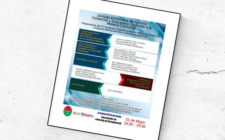 Jornada Entrerriana de Derecho Comercial y Empresario Dedicada a la Materia Concursal